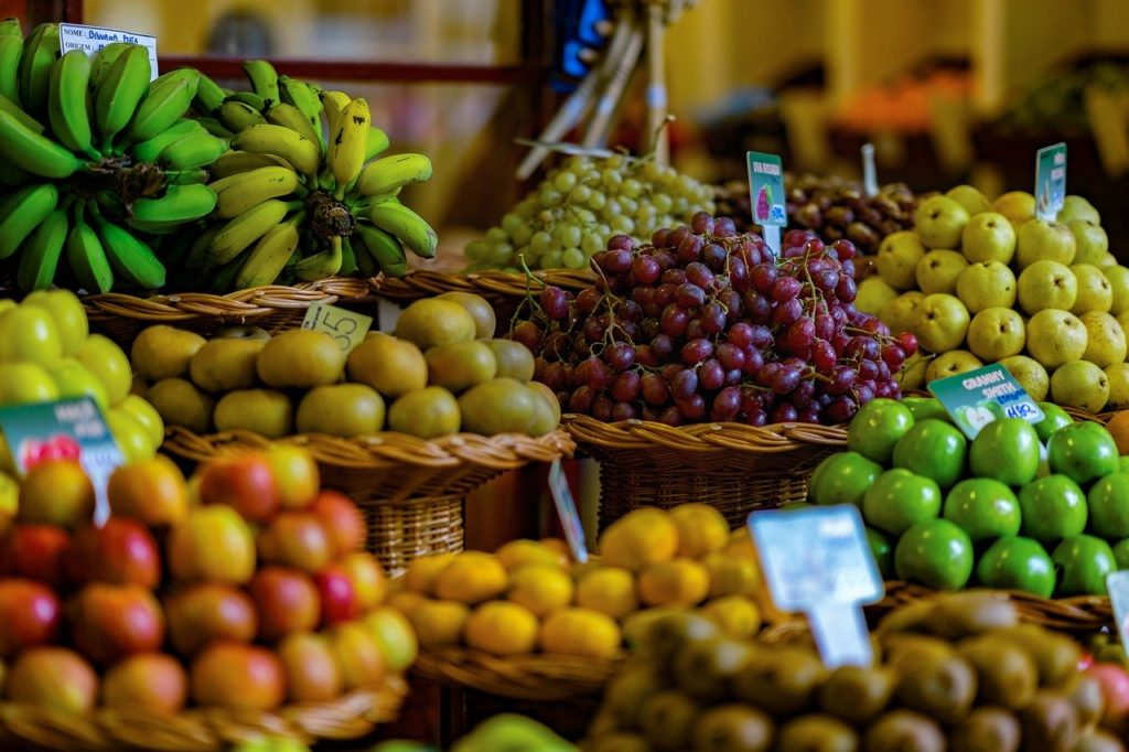 fruit, market, fruits